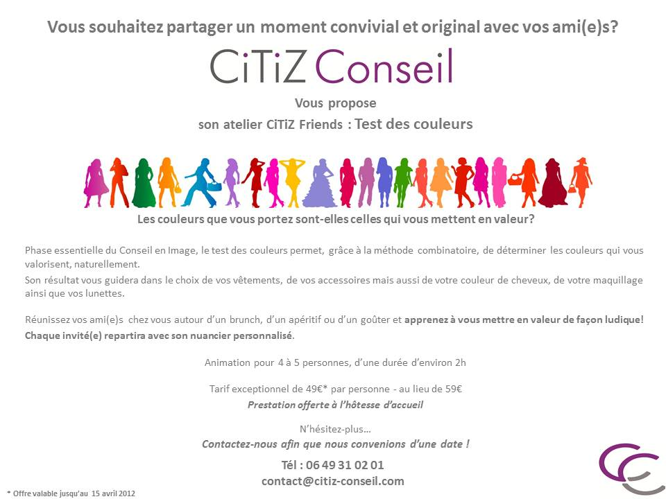 CiTiZ Friends Colorimétrie