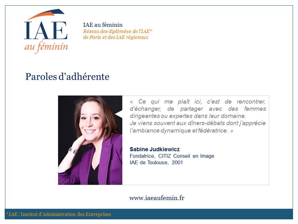 IAE au féminin